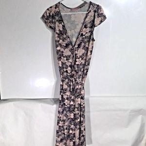 Matthew Stevens Pink/Brown Wrap Dress